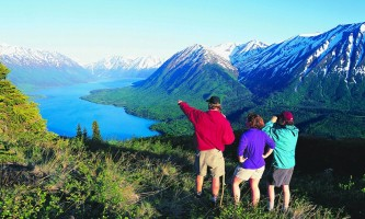 Alaska expert advice hike overlooking skilak lake Z KEX