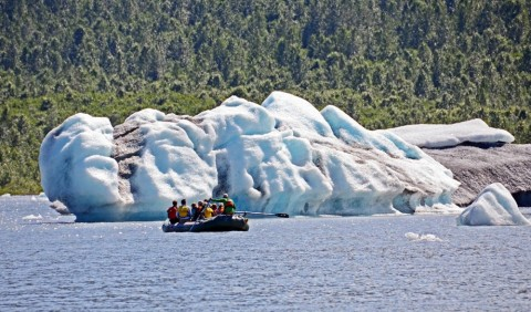 Train Ride and Rafting or Kayaking at Spencer Glacier