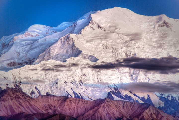 You need a land tour to see Mt. Denali