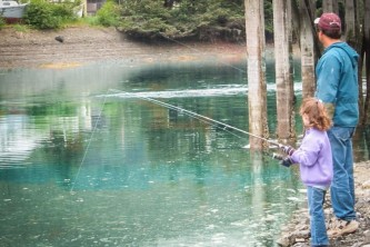 Seldovia fishing clamming Father daughter fishing at slough Seldovia com IMG 1432