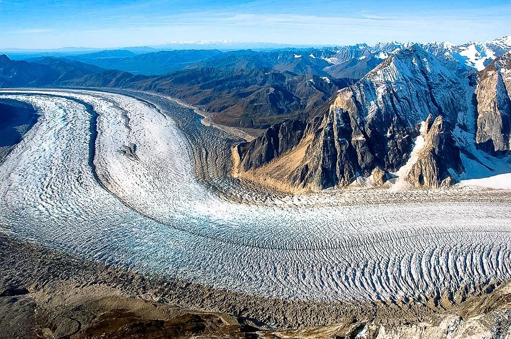 Glaciers valley glacier Lower Ruth Glacier Alpine Valley Glaciers