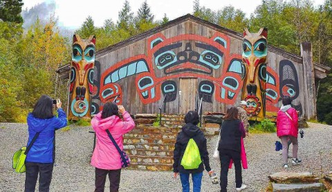 Visit Saxman Totem Park. Photo by Alaska Canoe Adventures