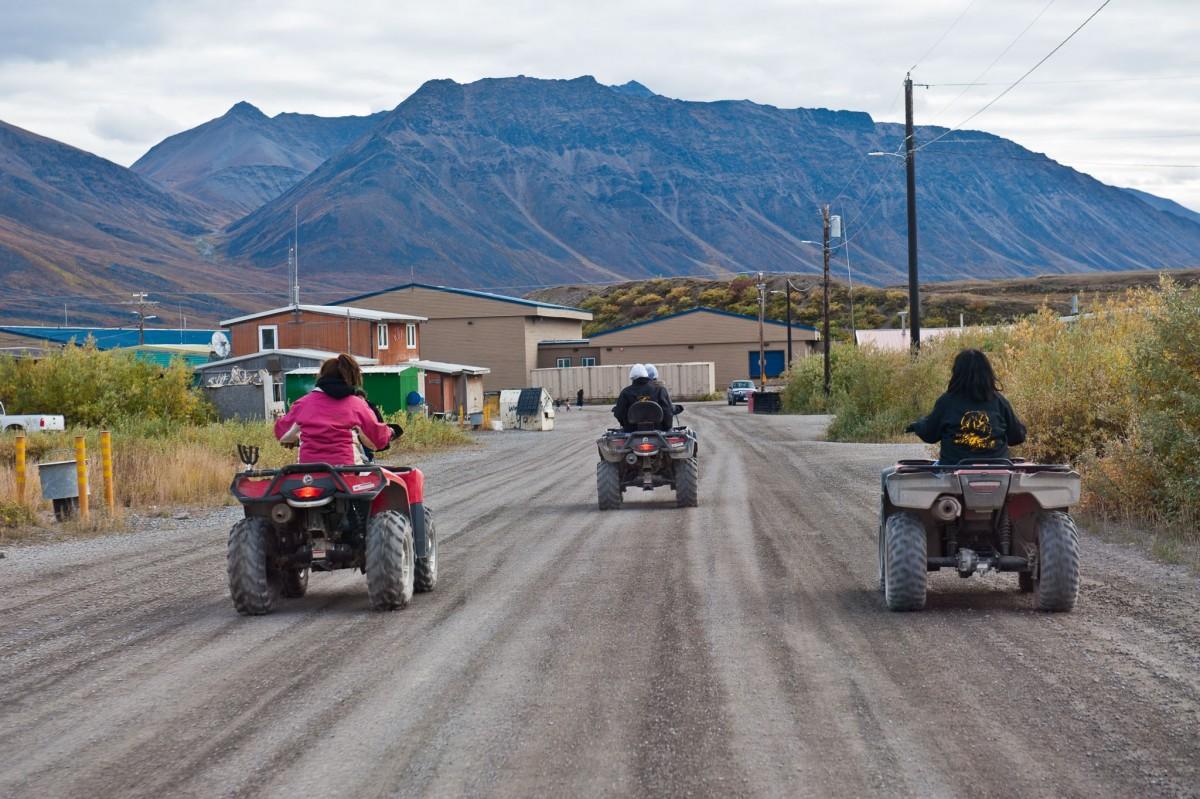 ATVS in Anaktuvuk Pass, the main mode of transportation