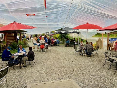 Outdoor dining area at Jack Sprat Restaurant