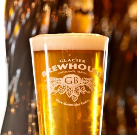 A glass of beer from Glacier Brewhouse