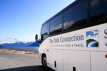 Alaska motorcoach bus park connection motorcoach turnagain Alaska Channel