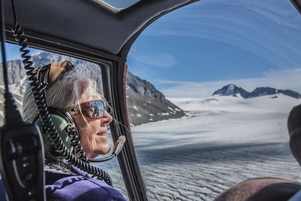 Get a birds eye view of glaciers on a flightseeing tour with Seward Helicopter Tours.