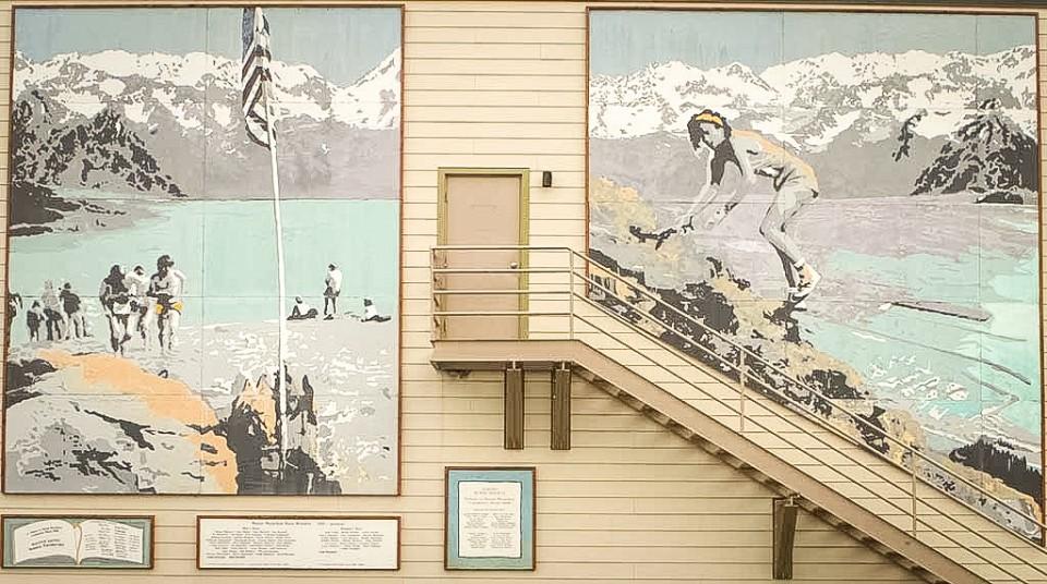Mural of the Mt. Marathon Race
