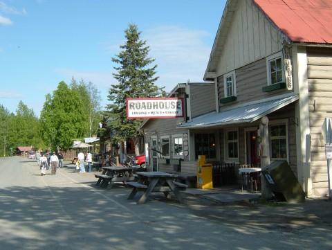 The outside of Talkeetna Roadhouse on Main Street.