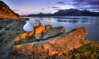 Anchorage scenic drive Alaska Channel