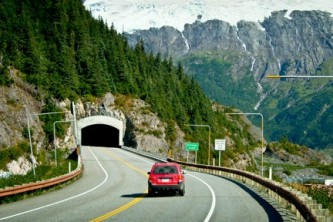 Chugach national forest scenic day drives Whittier Tunnel RSK 001 Alaska Channel