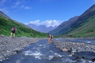 Chugach state park parks and trails Crow Pass Mark Yezbick Accent Alaska
