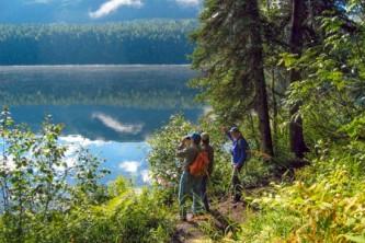Denali state park guided hiking Byers lake nature walk