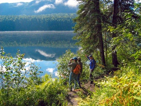 Camping, hiking, fishing, and rafting are favorite summer activities at Denali State Park