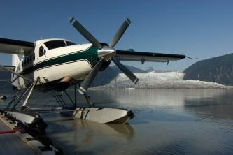 Juneau flightseeing Docked at the Taku Lodge
