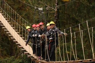 Ketchikan zipline tours KTN Rainforest zip suspension bridge 050418