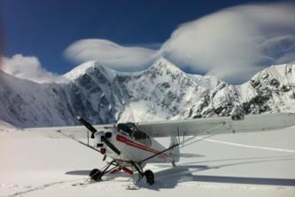 Kotzebue flightseeing tours Trident glacier