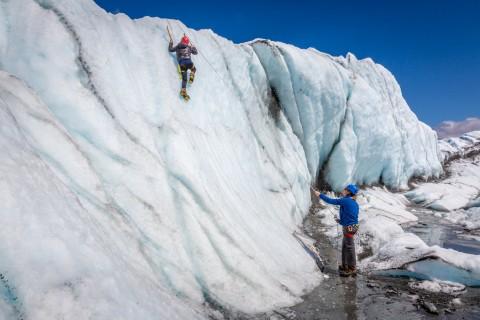 Ice Climbing on the Matanuska Glacier