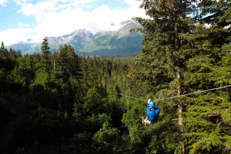 Seward zipline tours stoney creek