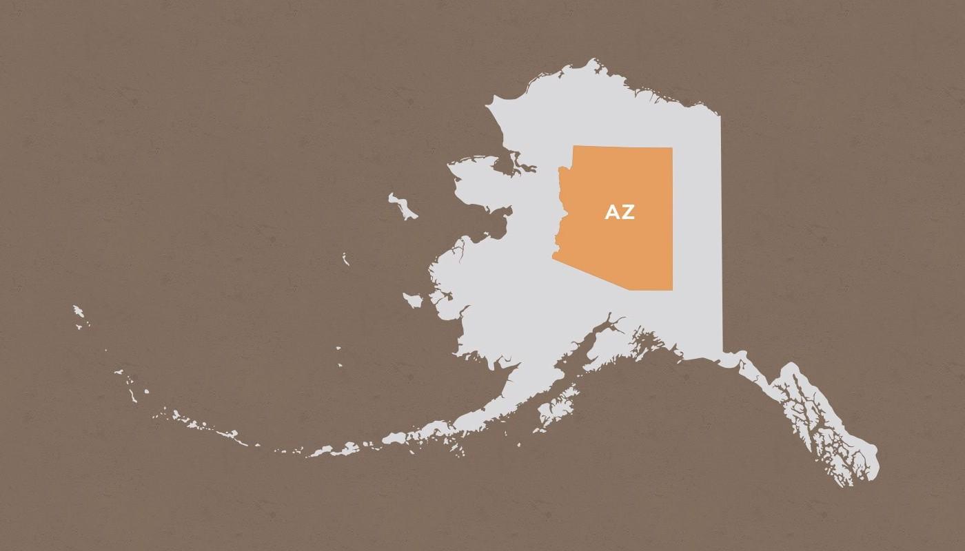 Arizona compared to Alaska