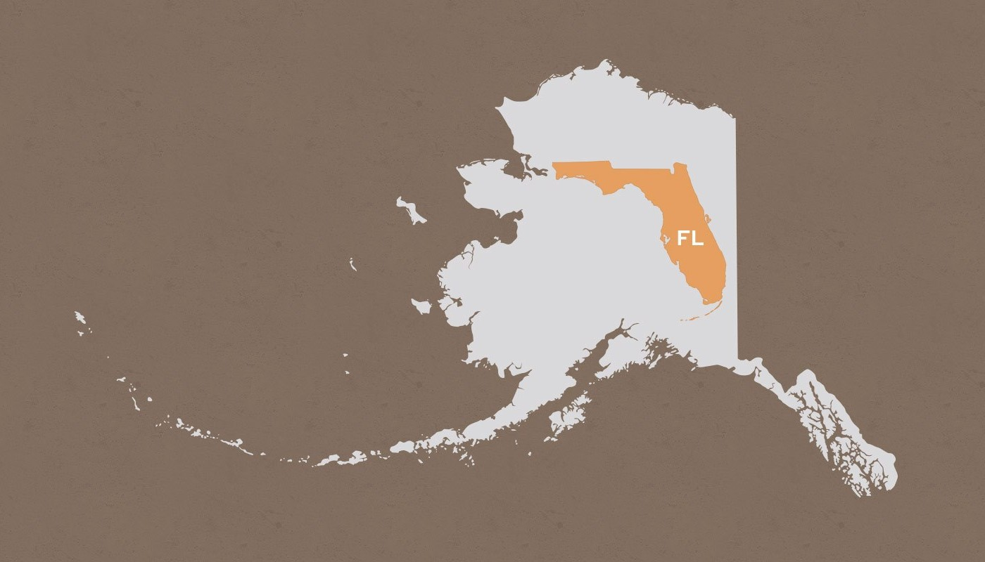Florida compared to Alaska