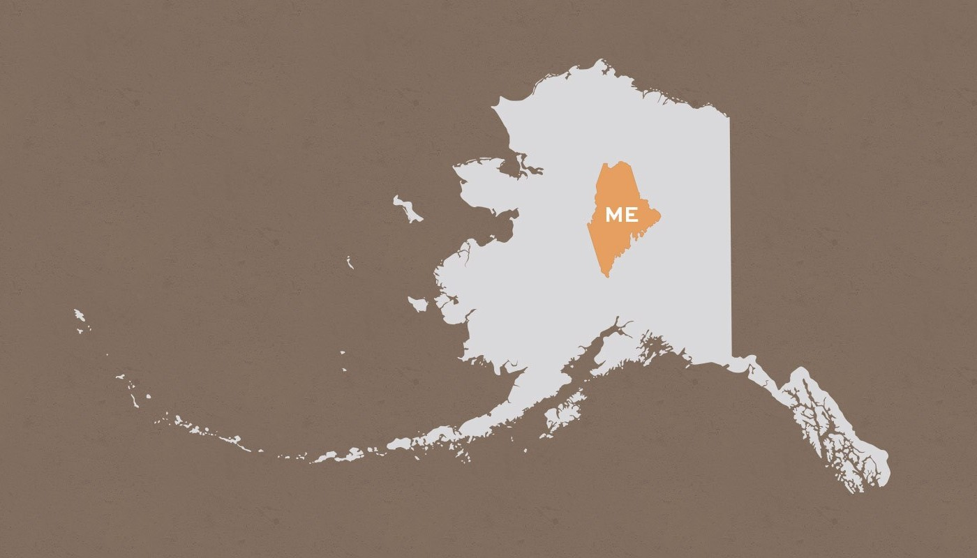Maine compared to Alaska