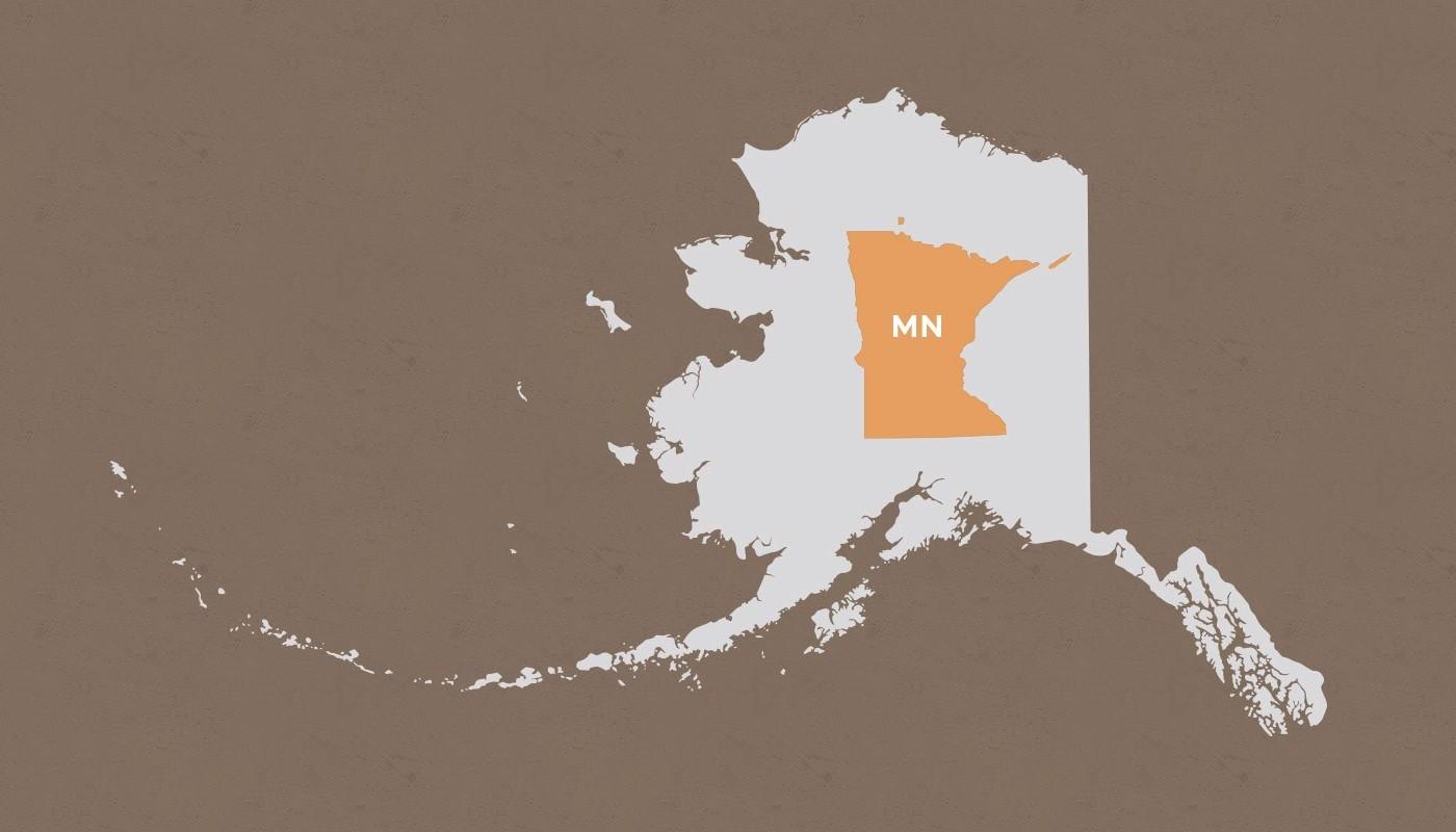 Minnesota compared to Alaska