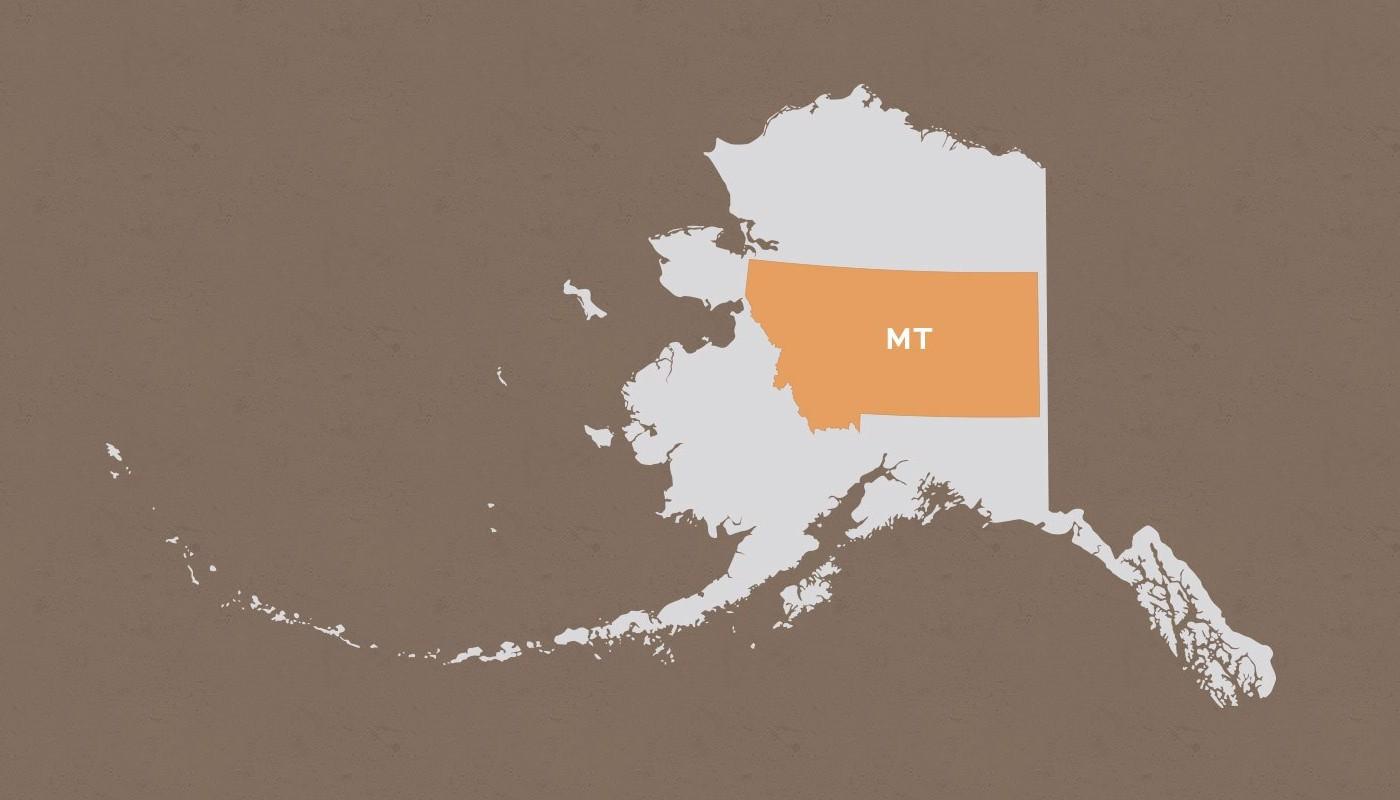 Montana compared to Alaska