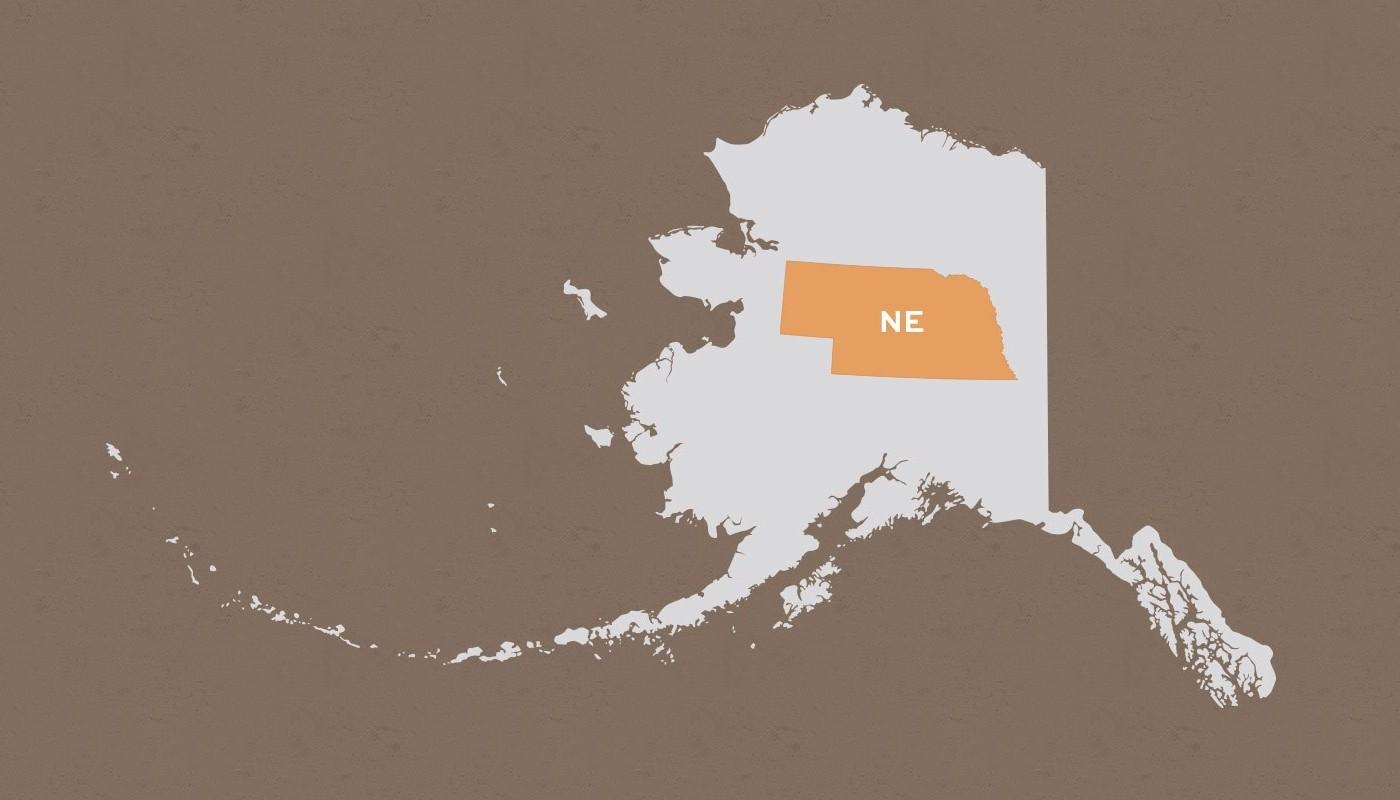 Nebraska compared to Alaska
