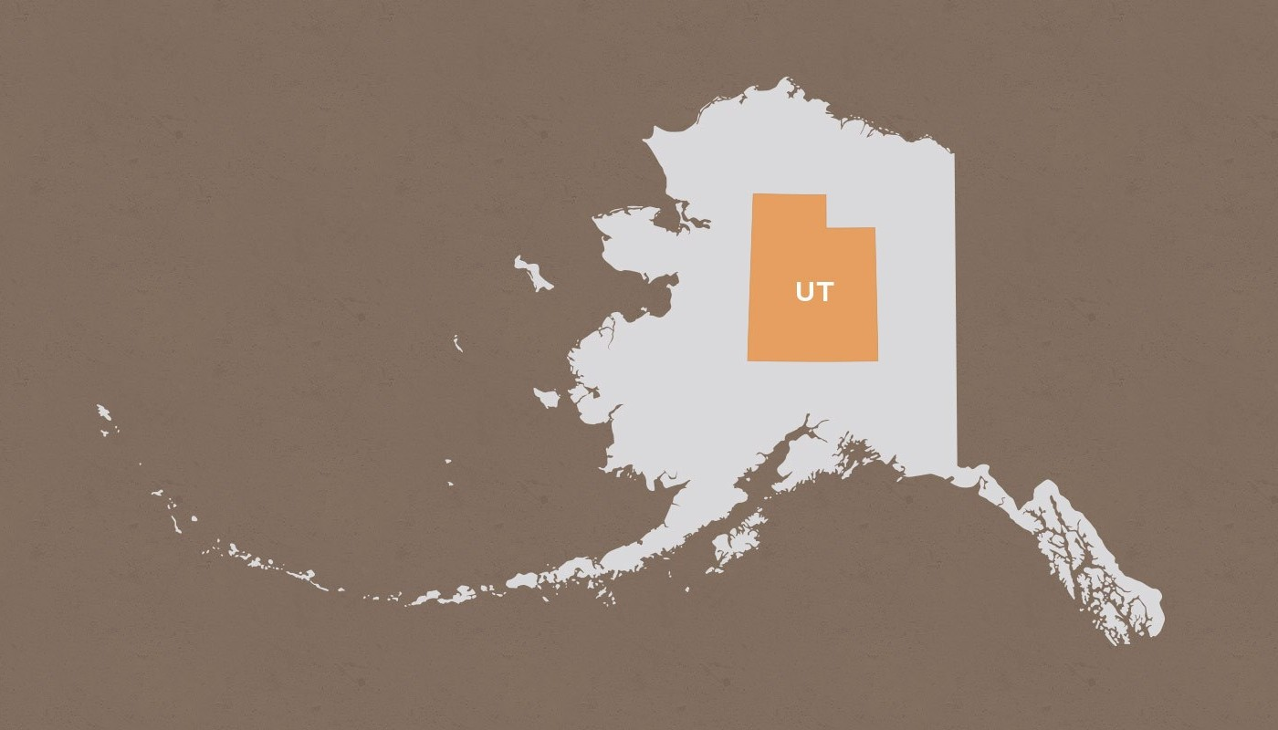Utah compared to Alaska