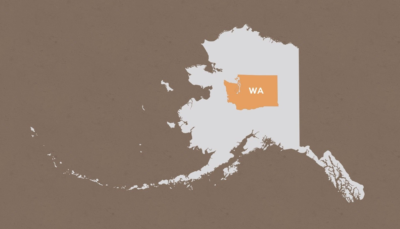 Washington compared to Alaska