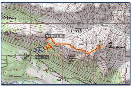 Mile High Saddle Trail (Mt. Magnificant)