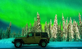 Alaska 4x4 rental jeep wrangler northern lights jan 2018 pgp6o2