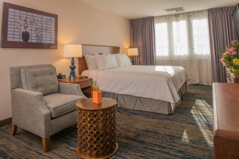 Renovated rooms and suites include luxurious bedding and linens