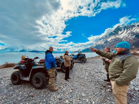 Drive your own ATV in the Alaskan backcountry outside Anchorage.