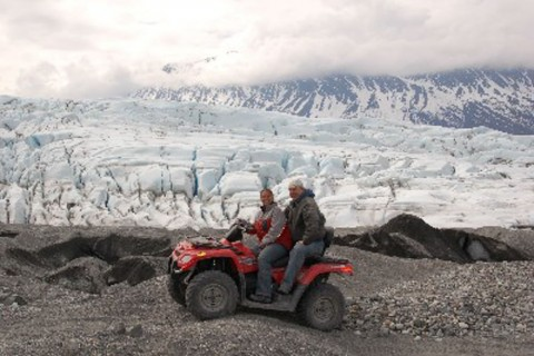 Drive your ATV right up to the Knik Glacier in Alaska's backcountry