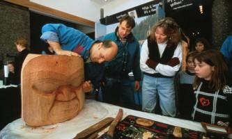 Alaska Native Heritage Center Native Carving2019
