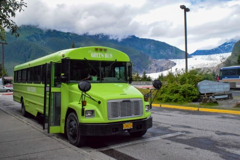 The whales and glacier trip provides a stop at the Mendenhall Glacier Visitor Center prior to your whale watching cruise