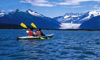 Glacier view sea kayaking Kayak2 Alaska Travel Adventures