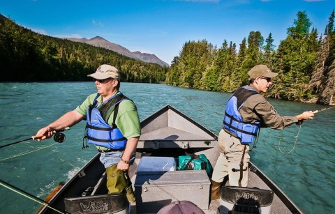Guides are experts in fly-fishing, drift fishing, and back trolling, so you can fish from the boat, the bank, or both