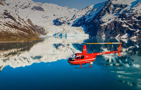 View the stunning tidewater glaciers of Prince William Sound from above