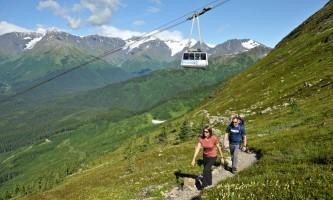 North Face Hikew Tram Hage Photo alaska hotel alyeska girdwood resort summer mountain biking hiking trails
