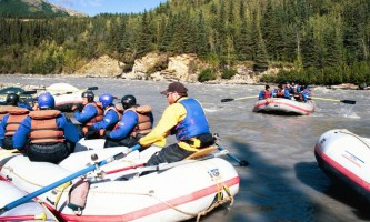 Explore denali rafting DPR Owned 027 Alaska Channel Rafing at Denali Park Village