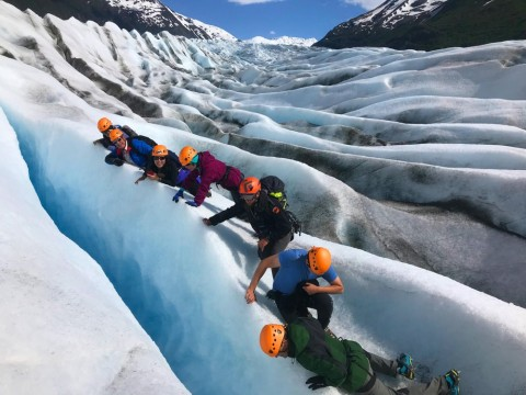 Ascending Path Guided Glacier Trek