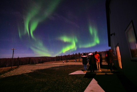 Aurora viewing 15 minutes from Downtown Fairbanks