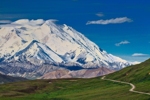 With the right weather, you might catch a glimpse of the majestic Mt. Denali, also known as Mt. McKinley, the tallest mountain in North America.