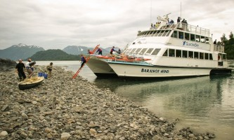 Glacier bay lodge GB tour kayak boat Alaska Channel