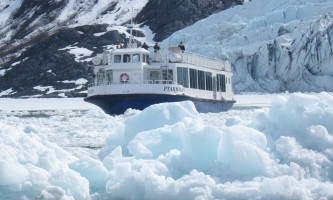 Portage Glacier Portage Glacier Close up of Boat2019