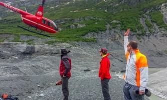 Exit glacier guides helicopter glacier hiking