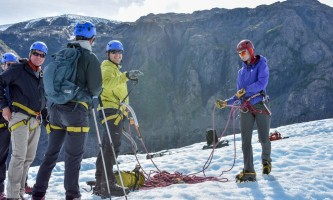Exit glacier guides ice climbing 7